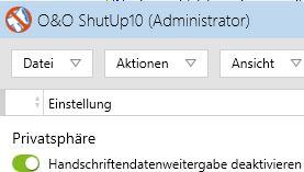 Datenschutz bei Windows 10 einschalten